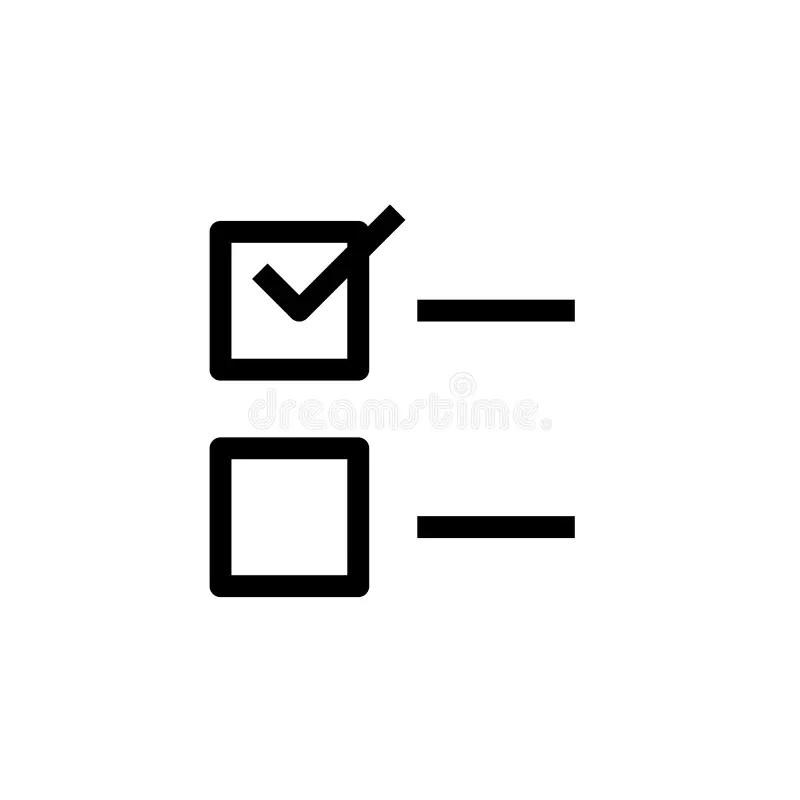 Check Mark Symbol, Check Box Icon Stock Vector