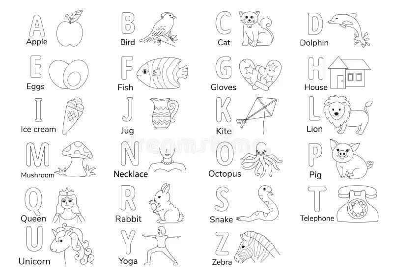 Kids learning alphabets stock vector. Illustration of