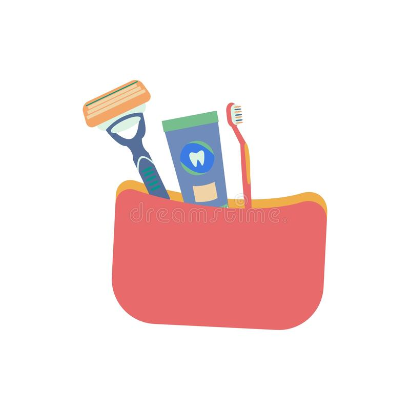 This toiletry bag mockup is simple and compact; Toiletry Bag Stock Illustrations 328 Toiletry Bag Stock Illustrations Vectors Clipart Dreamstime