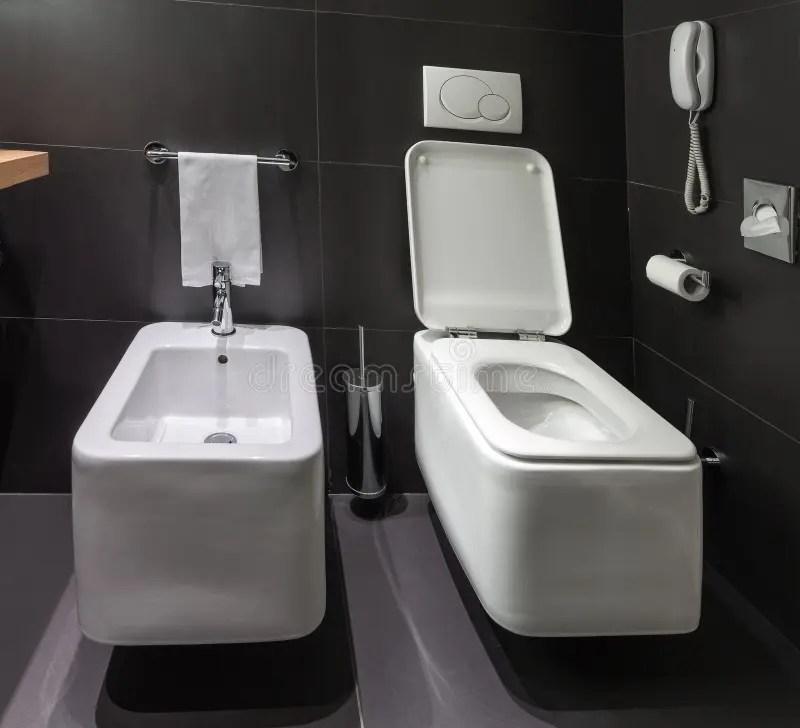Toilette E Bidet Moderni In Bagno Immagine Stock Libera da Diritti  Immagine 29565696