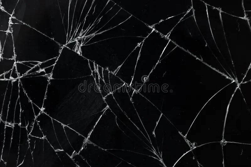 Iphone X Cracked Screen Wallpaper Top View Cracked Broken Mobile Screen Glass Texture