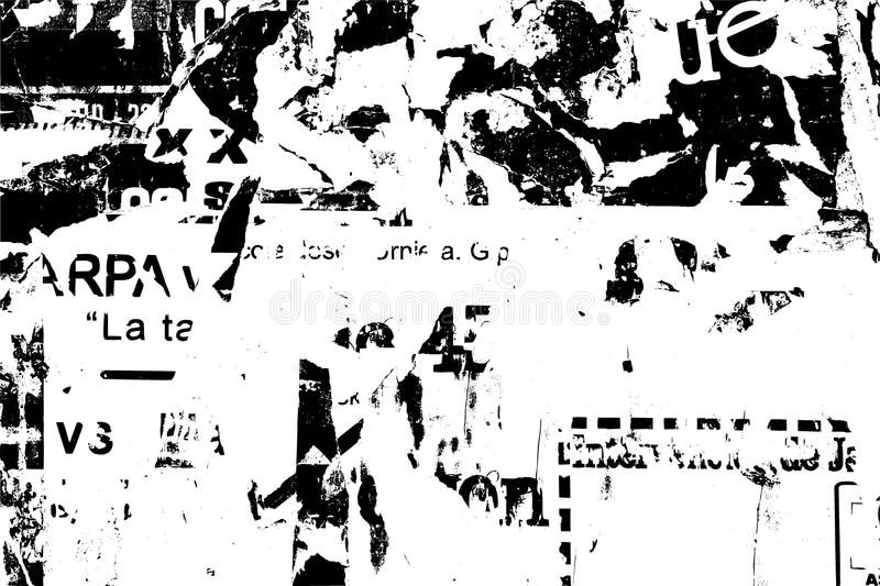 Old Print Text. Grunge Newspaper Page Background