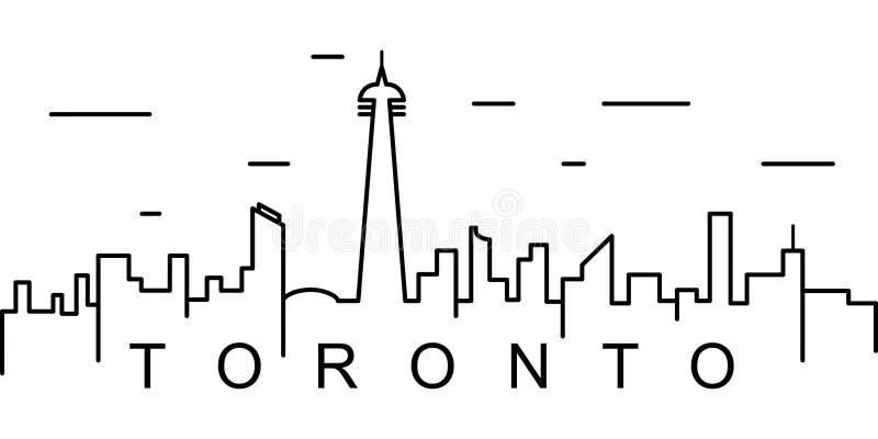 Toronto canada skyline stock vector. Illustration of