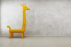 empty background modern giraffe wall toy concrete