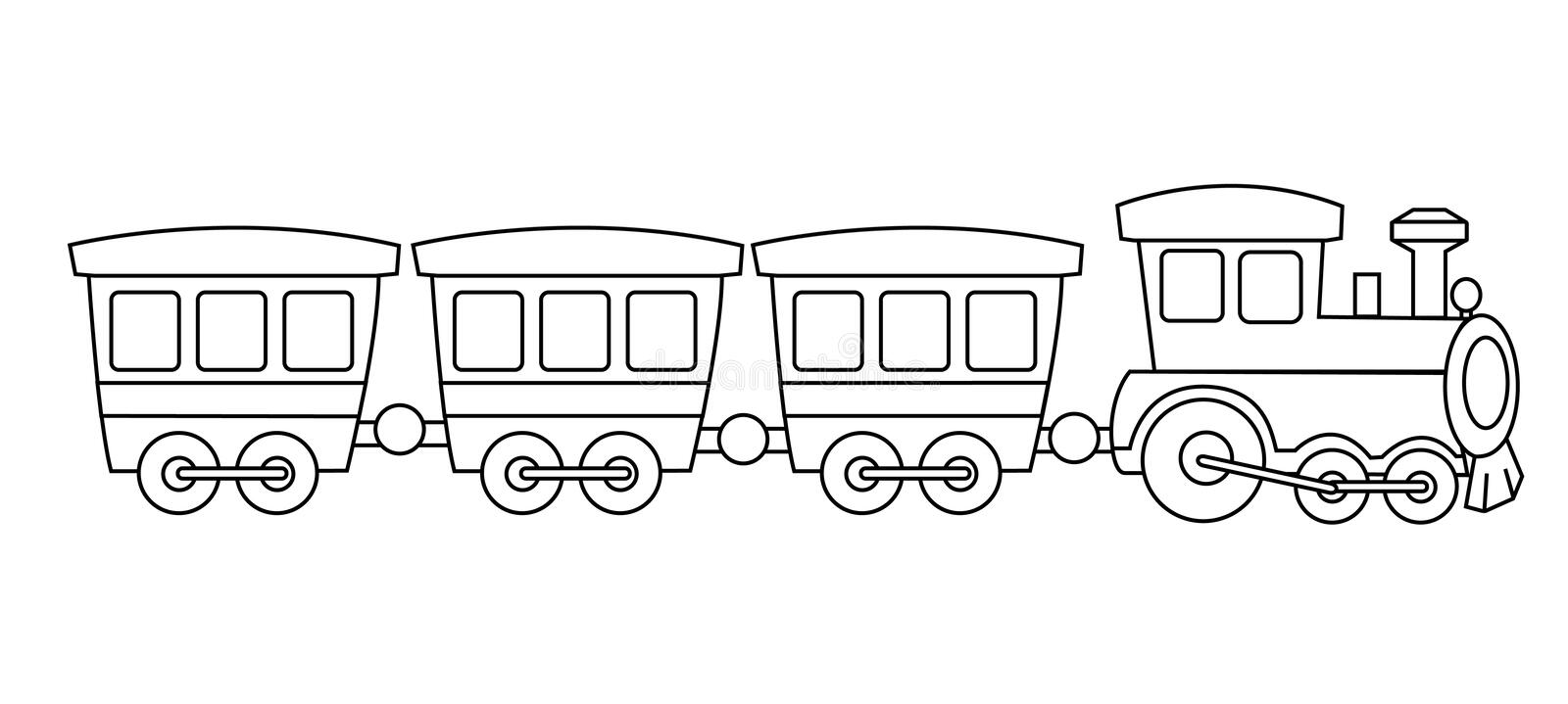 Toy train stock vector. Illustration of coach, clipart