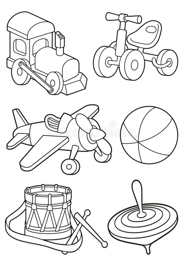 Line art train icons stock vector. Illustration of