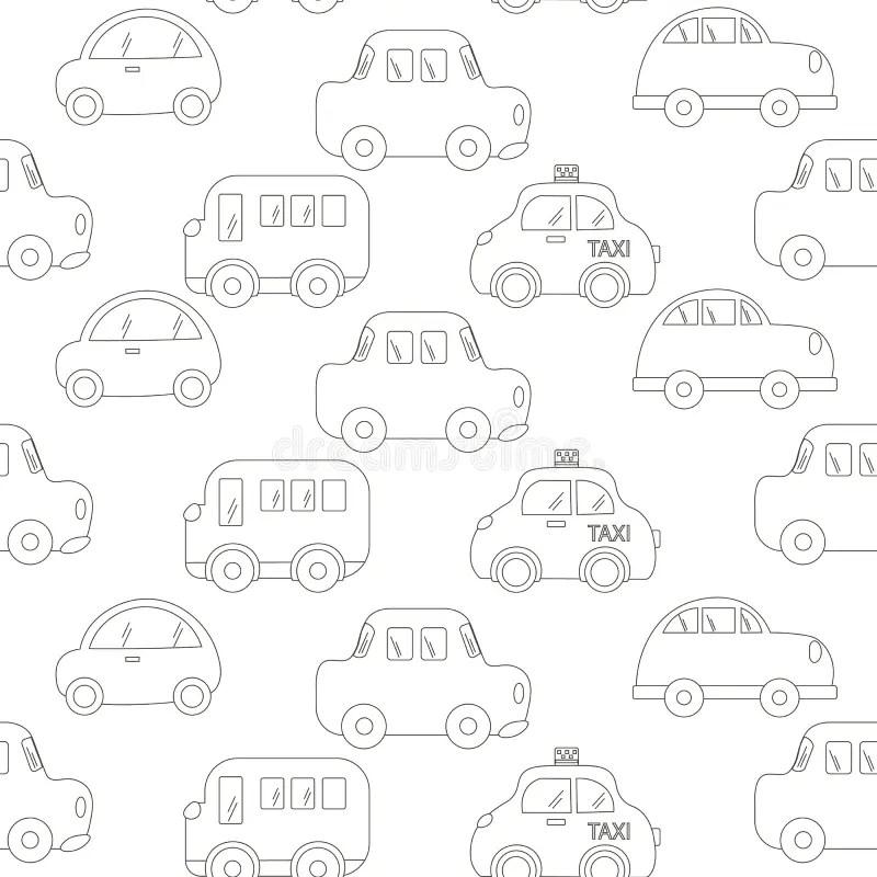 Abstract Contour Of Car Cartoon Vector