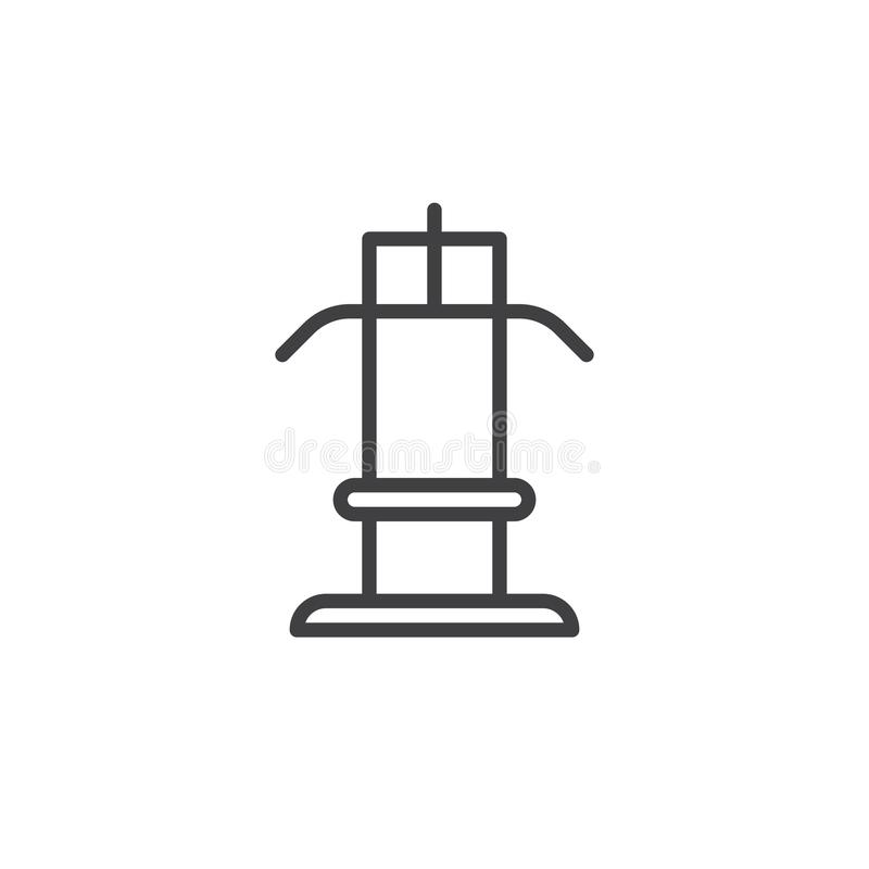 Training Line Icon, Outline Vector Sign, Linear Style