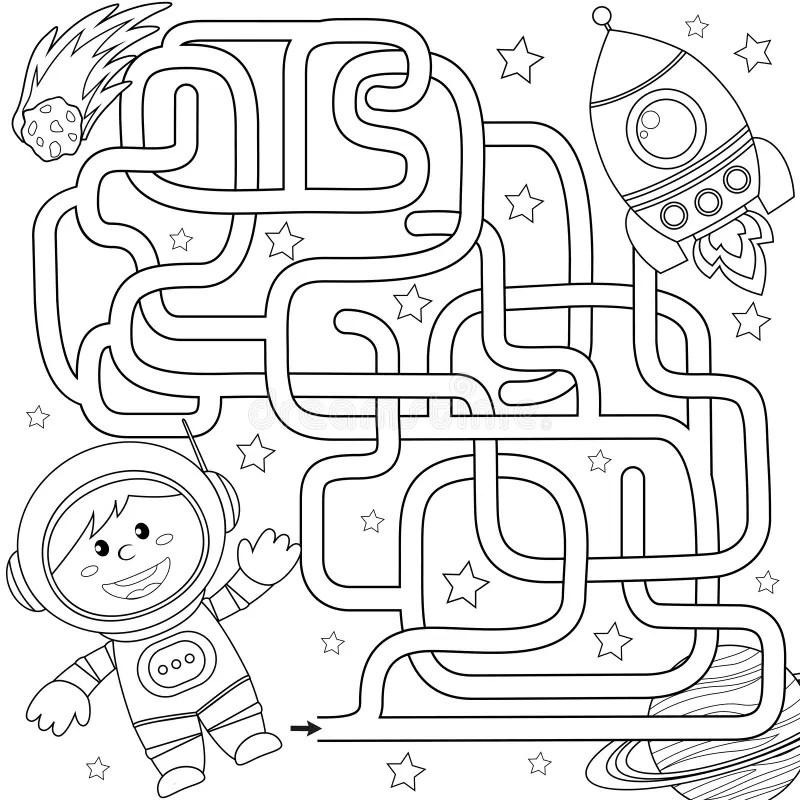 Nave Espacial Dos Desenhos Animados Ilustração do Vetor