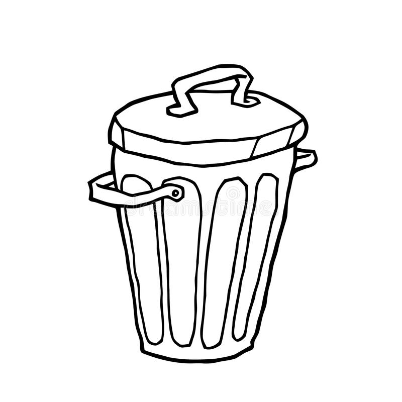 Trash Can Stock Vector Illustration Of Vector Draft