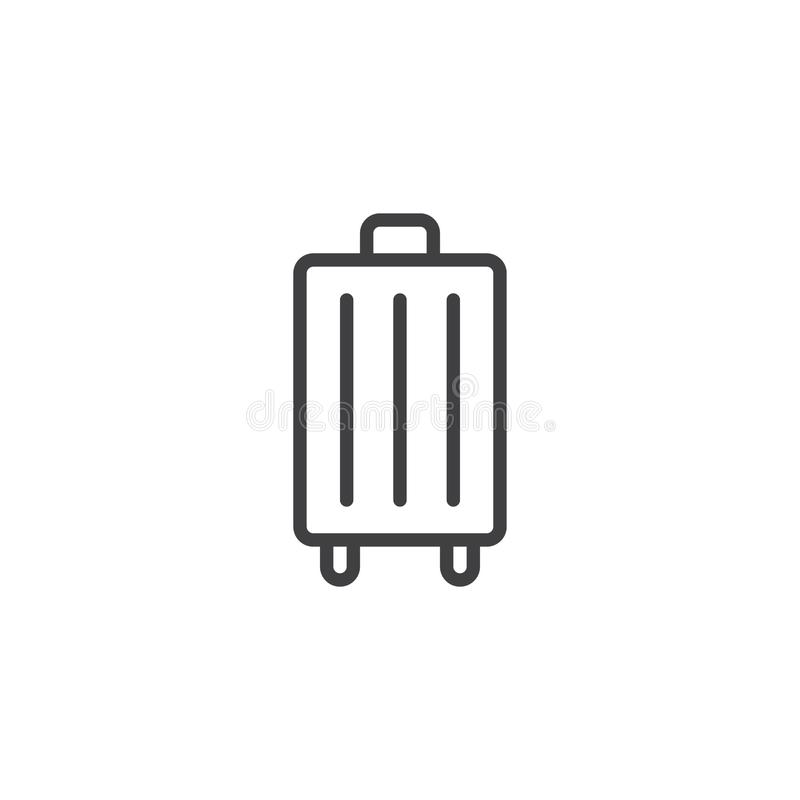 Travel Bag outline icon stock vector. Illustration of
