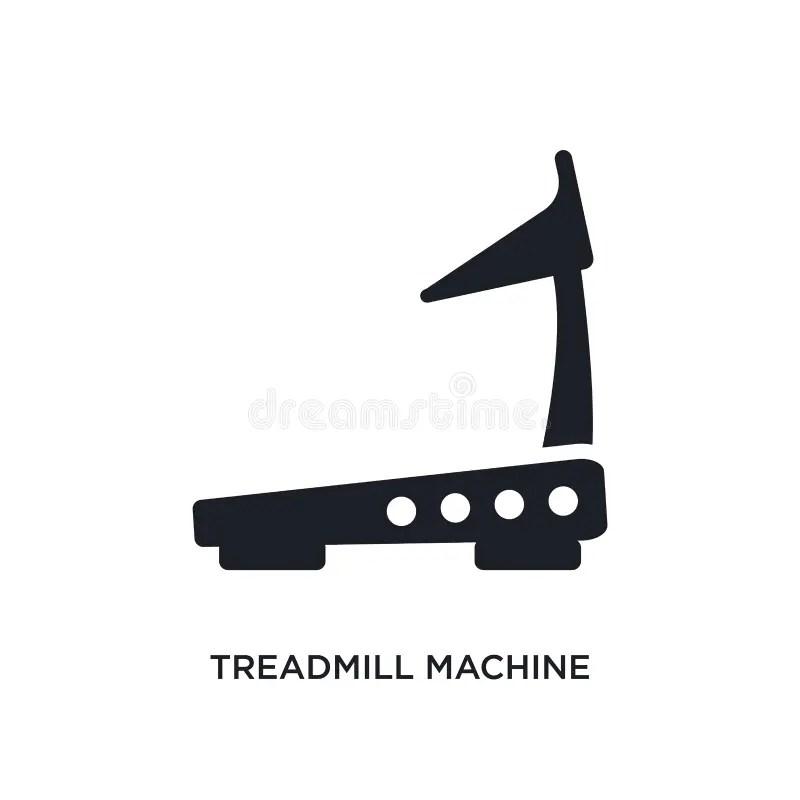 Treadmill Illustration Isolated On White Background Stock
