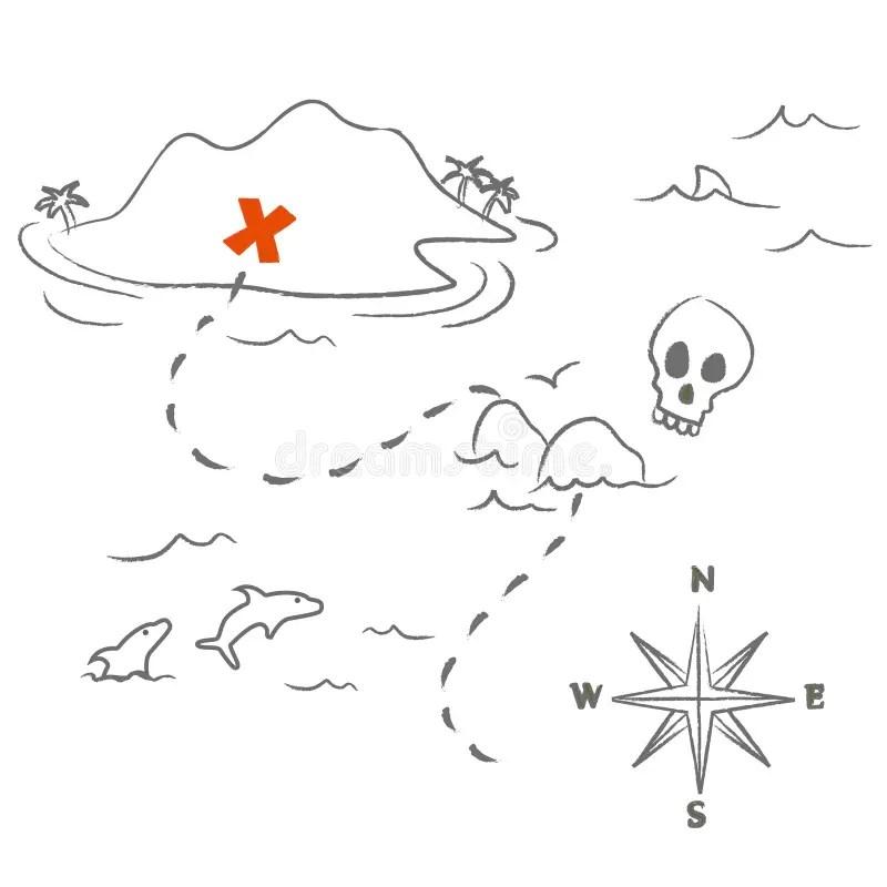 Treasure map vector stock vector. Illustration of graphic