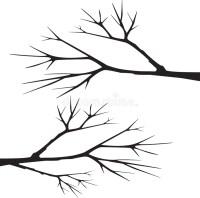 Tree Branch Silhouette Vector Stock Vector - Illustration ...