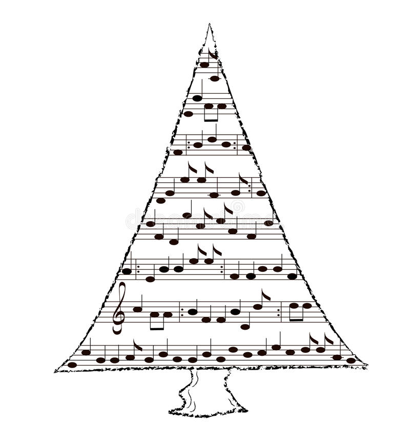Holiday Spruce Tree, Christmas Music Theme Royalty Free