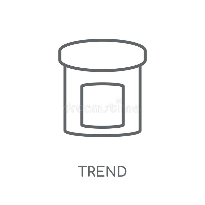 Outline Trending Vector Icon. Isolated Black Simple Line