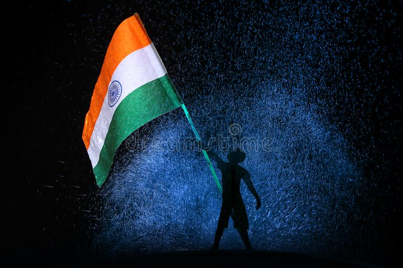 Tri Colour Indian Flag Stock Image Image Of Festival 122438141