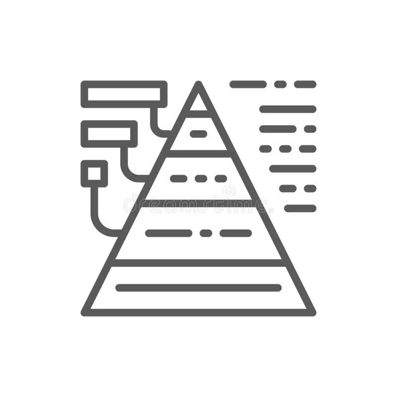 Strategy Pyramid Management Diagram Stock Illustration