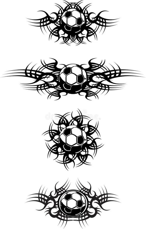 Tribal Soccer Balls stock vector. Illustration of image