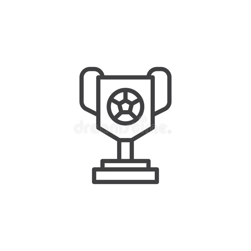 Football Trophy Cup Icon. Simple Illustration Outline