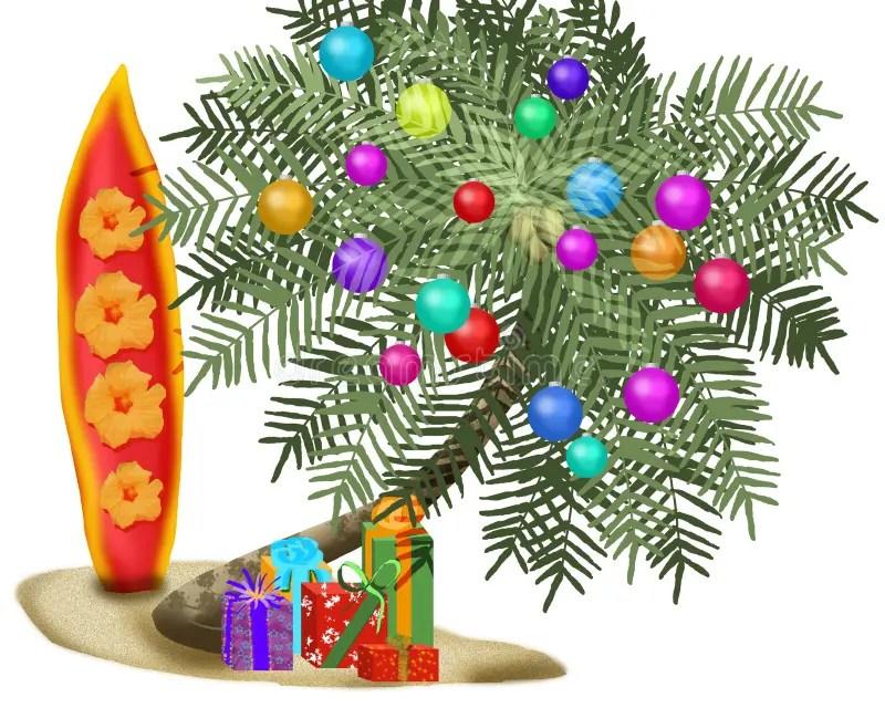 Tropical Christmas Tree Stock Illustration Illustration