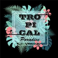 Tropical Paradise. T-shirt Or Poster Design Print With ...