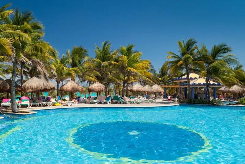 Download Tropisch Zwembad Stock Fotografie Afbeelding