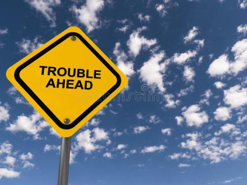 132 Trouble Ahead Sign Photos - Free & Royalty-Free Stock Photos from Dreamstime