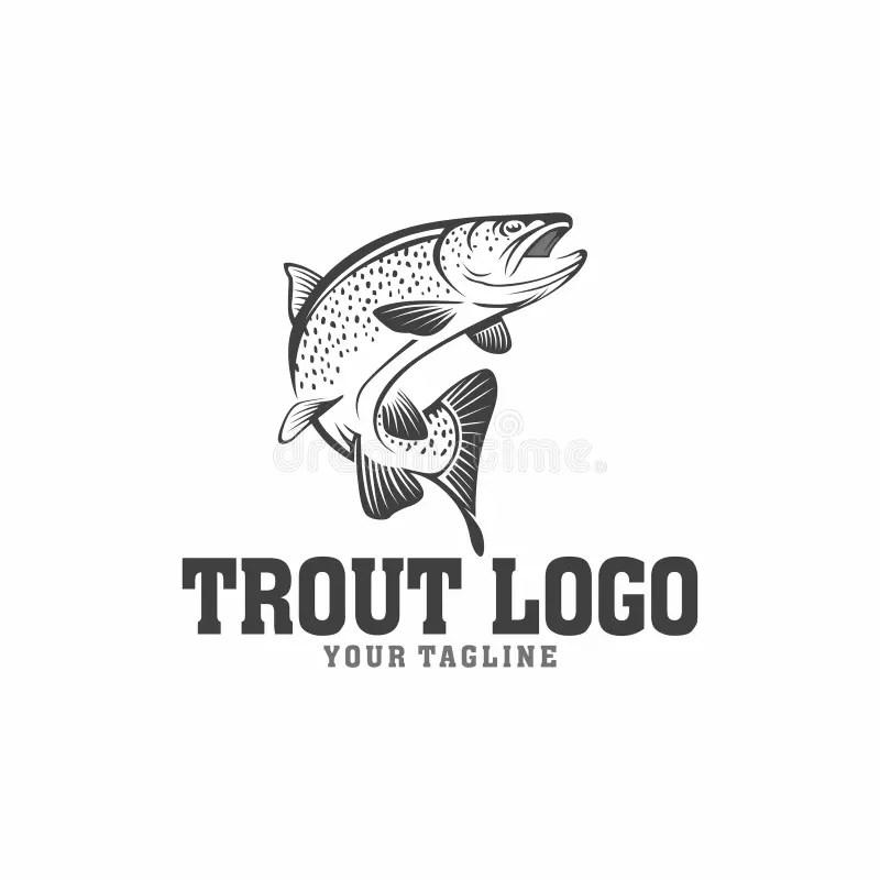 Fishing Logo, Emblem Isolated On White Background