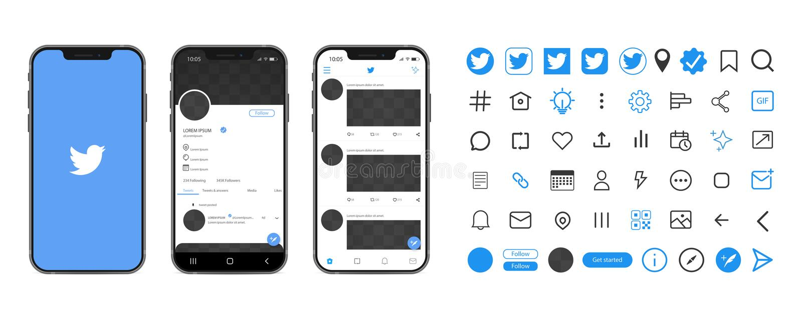 This is a free new twitter post mockup 2019 is designed to make it easy to test your brand profile & Twitter Mockup Stock Illustrations 184 Twitter Mockup Stock Illustrations Vectors Clipart Dreamstime