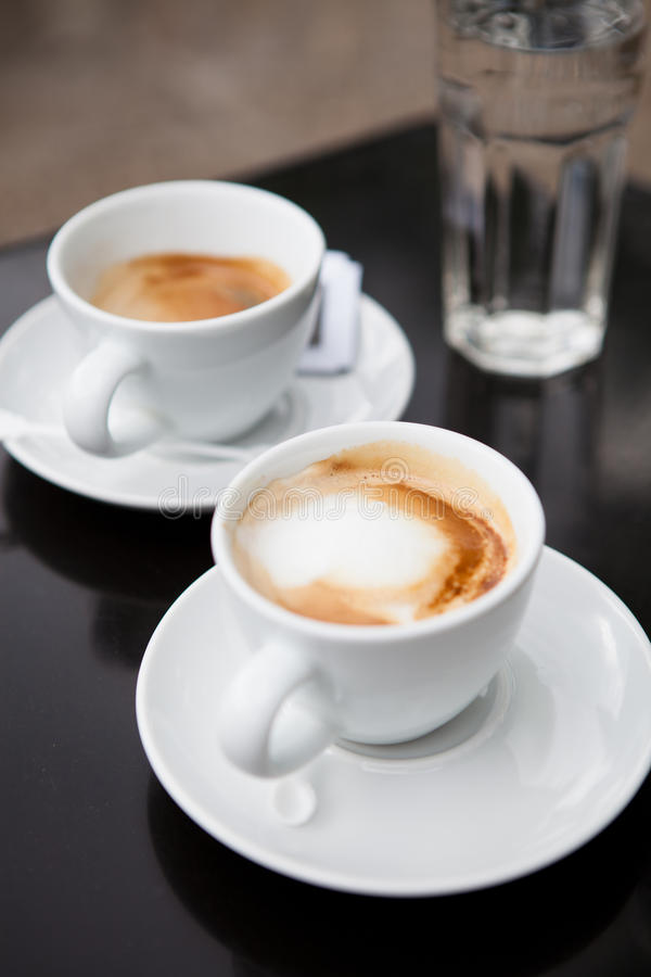 Two Cups Of Coffee Royalty Free Stock Photography Image