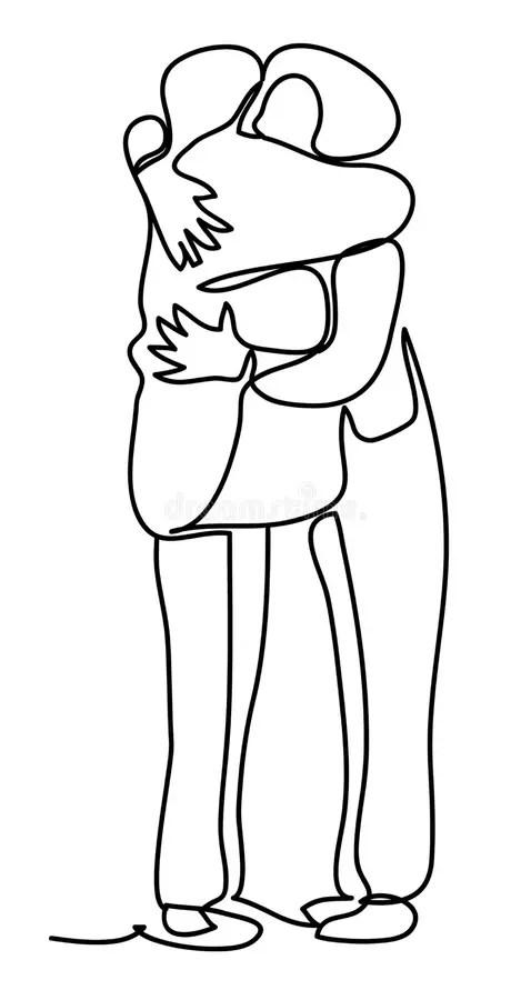 Friends Hugging Stock Illustrations