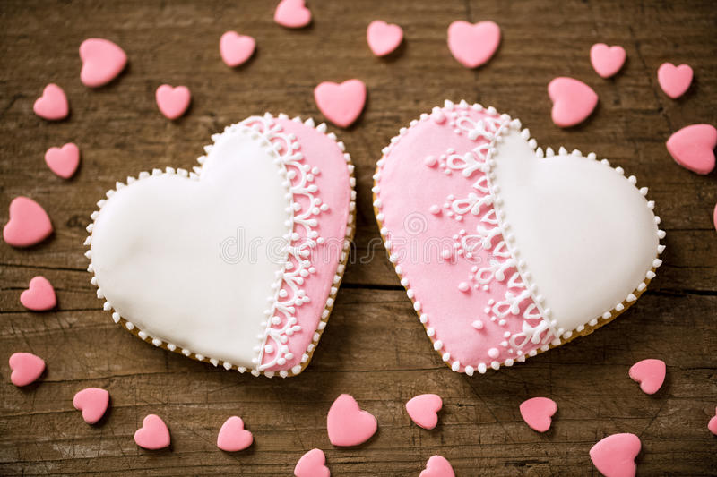 two lovely heart cookies