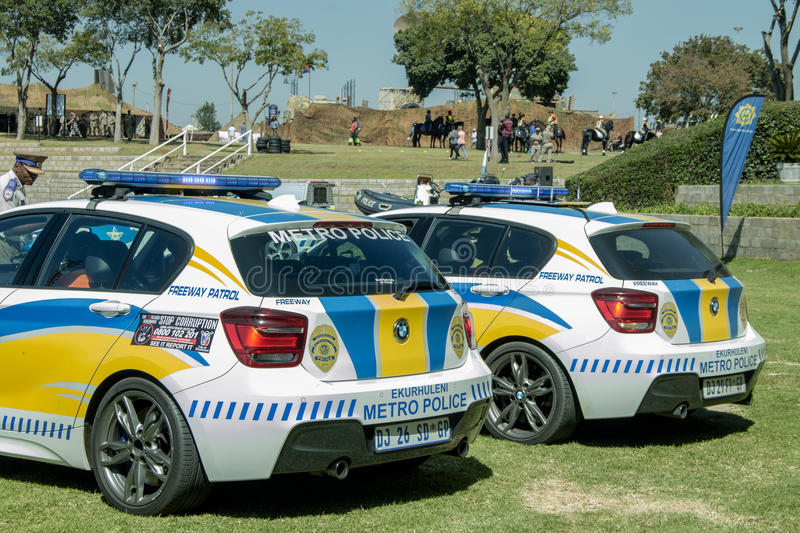 Two South African Police Cars Next To Each Other Editorial