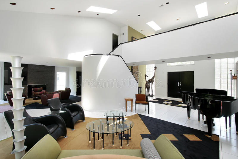 Ultra Modern Living Room Stock Image Image Of Fixtures