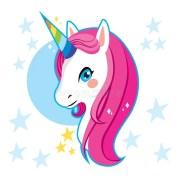 unicorn head stock vector. illustration
