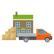 Unique Car Carrying Goods Stock Vector. Illustration Of
