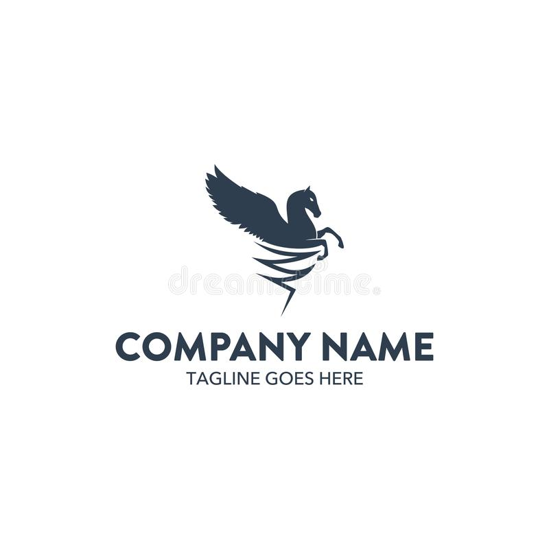 Unique Pegasus Unicorn Logo Template. Vector. Editable