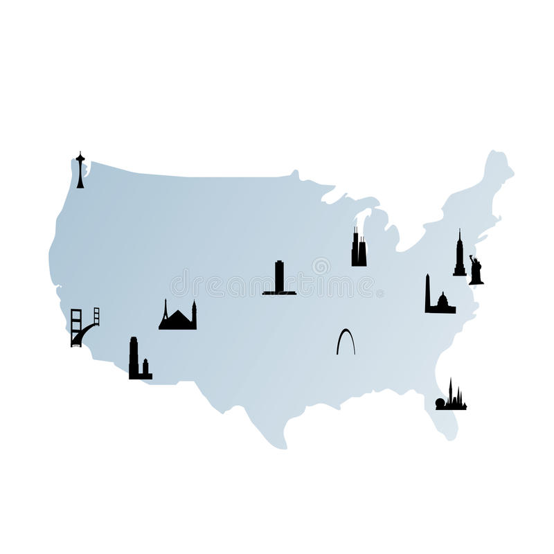 Because programs cannot translate directly from human concepts to computer numbers, they translate incrementall. United States Map With Landmarks Stock Vector Illustration Of Federal Architectures 9508411