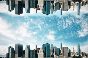 upside down urbano paisaje cityscape backdrop abstract abstracto reves concept water negocios imagen vision sky research archivo
