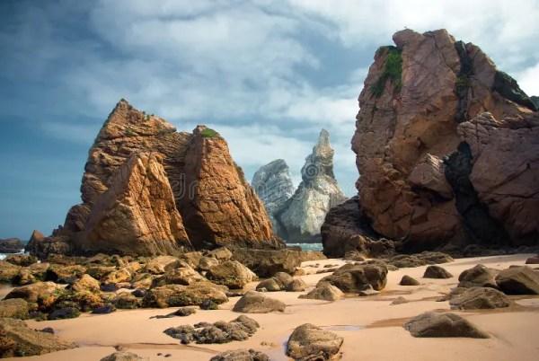 ursa beach rocks stock