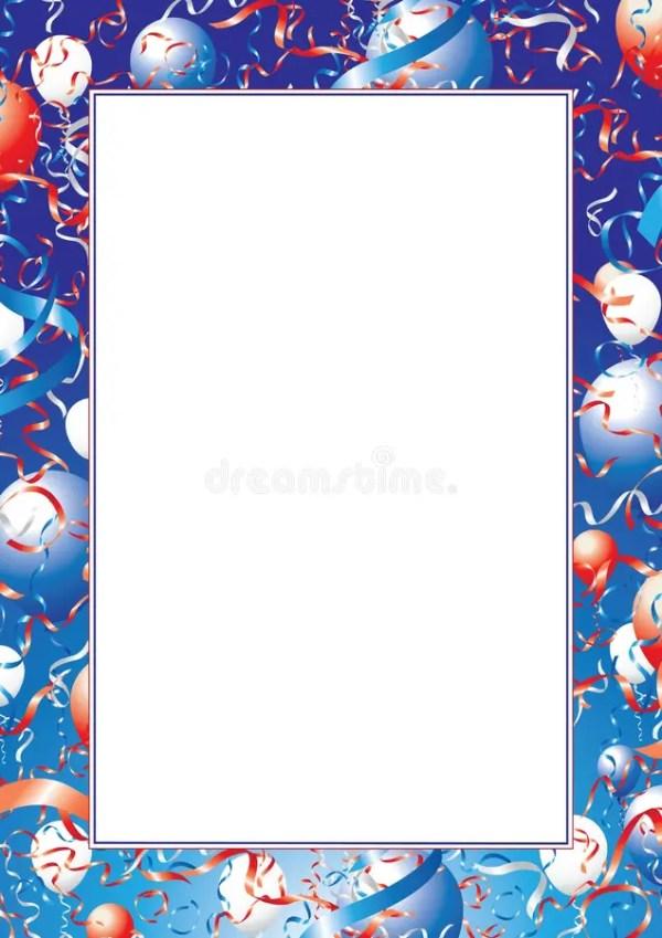 usa balloons and ribbons border