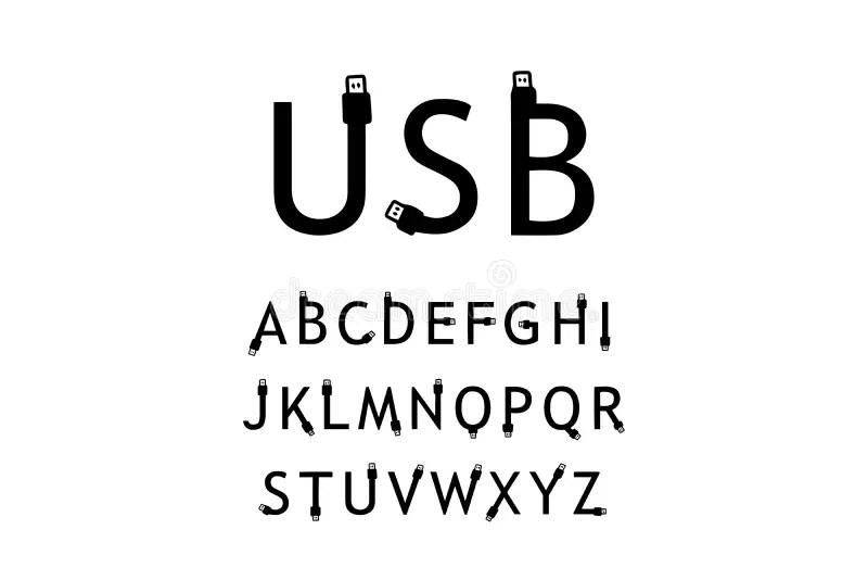 USB type C stock vector. Illustration of serial