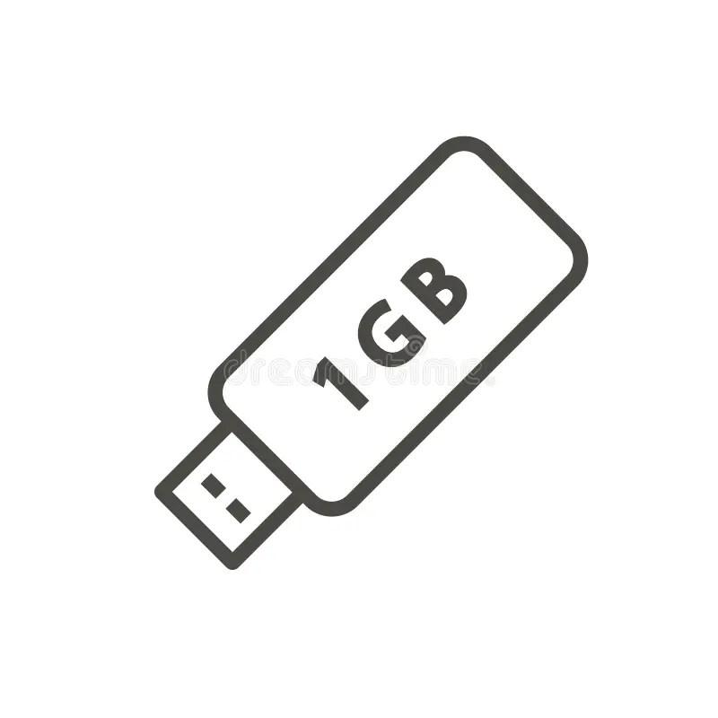 Usb Sign Icon. Usb Flash Drive Stick Symbol. Vector Stock