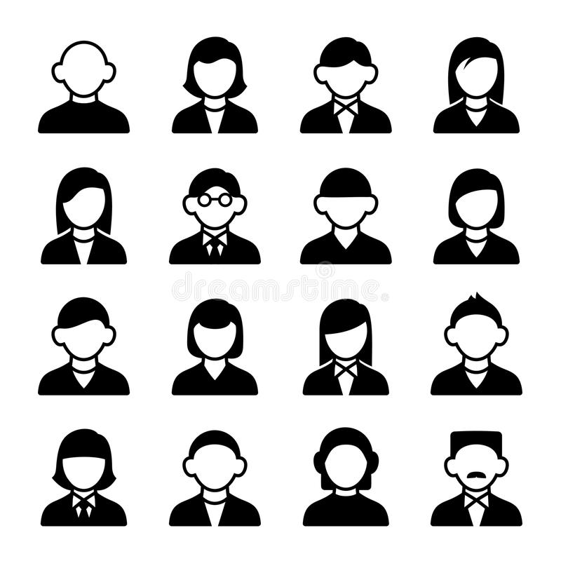 User icons set 3 stock vector. Illustration of boys, daddy