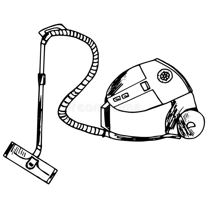 Vacuum cleaner stock vector. Image of electricity, dusting