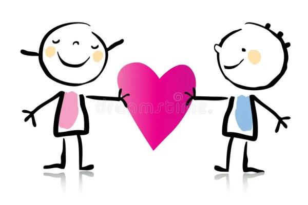 valentine's day cartoon stock vector