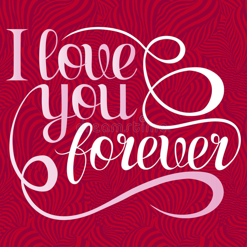 Valentines Day Lettering I Love You Forever Design