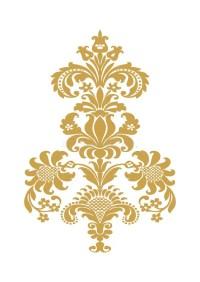 Vector Abstract Flower Gold Element Design Stock Vector ...