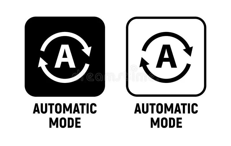Automatic Mode Button Vector Icon Stock Vector
